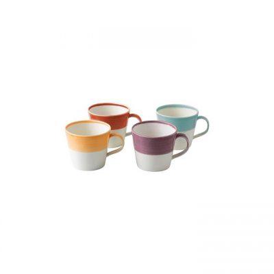 1815 Tapas Mug, Warm Colours  (Set of 4) By Royal Doulton