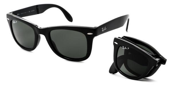 RB4105 Wayfarer Folding Polarized Sunglasses 601/58 By Ray Ban