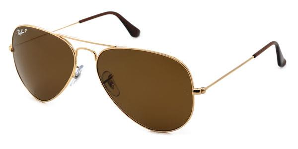 RB3025 Aviator Large Metal Polarized Sunglasses 001/57 By Ray Ban