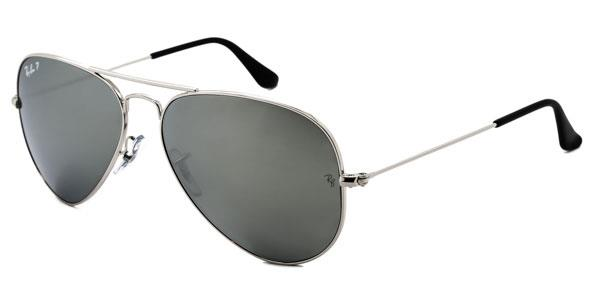 RB3025 Aviator Large Metal Polarized Sunglasses 003/59 By Ray Ban