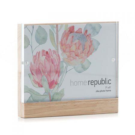 "Zika Acrylic Frame 5x7"" Timber By Home Republic"