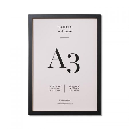 Gallery Frame A3 Black Wall Frame By Home Republic