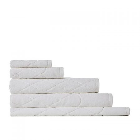 Lisbon Textured Towel Range White Bath By Home Republic
